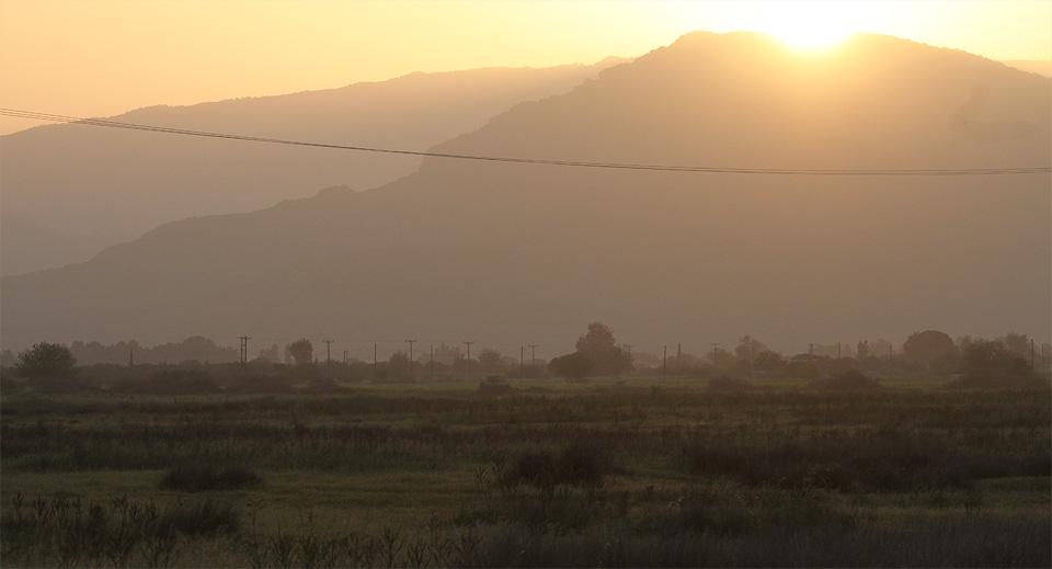 Soluppgång över Kaloni
